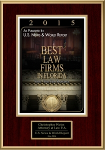 best law firms in FL 2015 published by US News & World Report